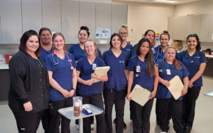 Medical students smiling