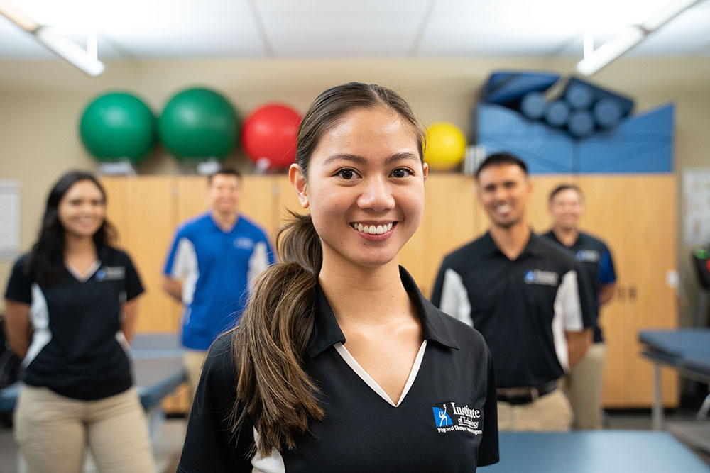 Physical therapy students smiling