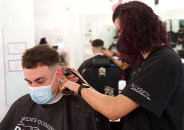 Barbering student